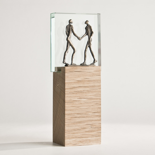Trophée verre contemporain fabrication