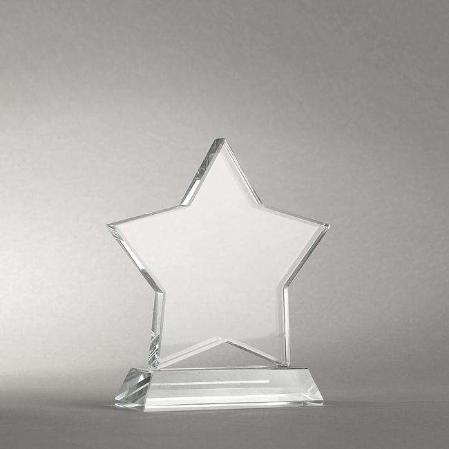 Trophée étoile verre